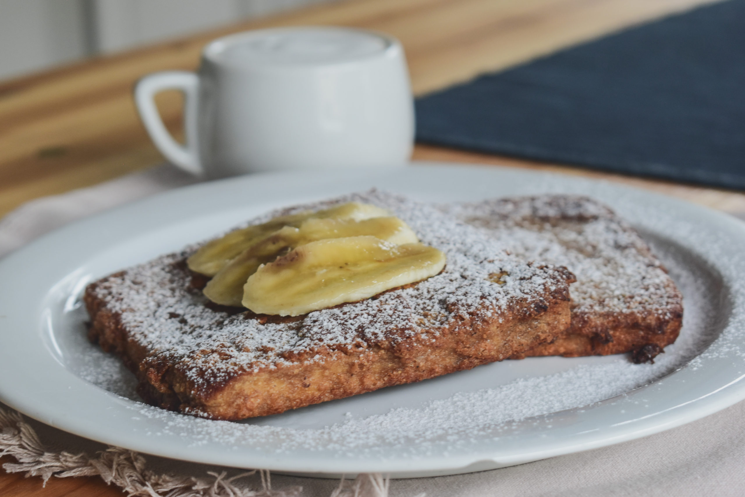 Peanut butter and coffee french toast