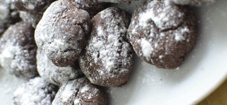 Yoghurt and cocoa biscuits without eggs and without butter