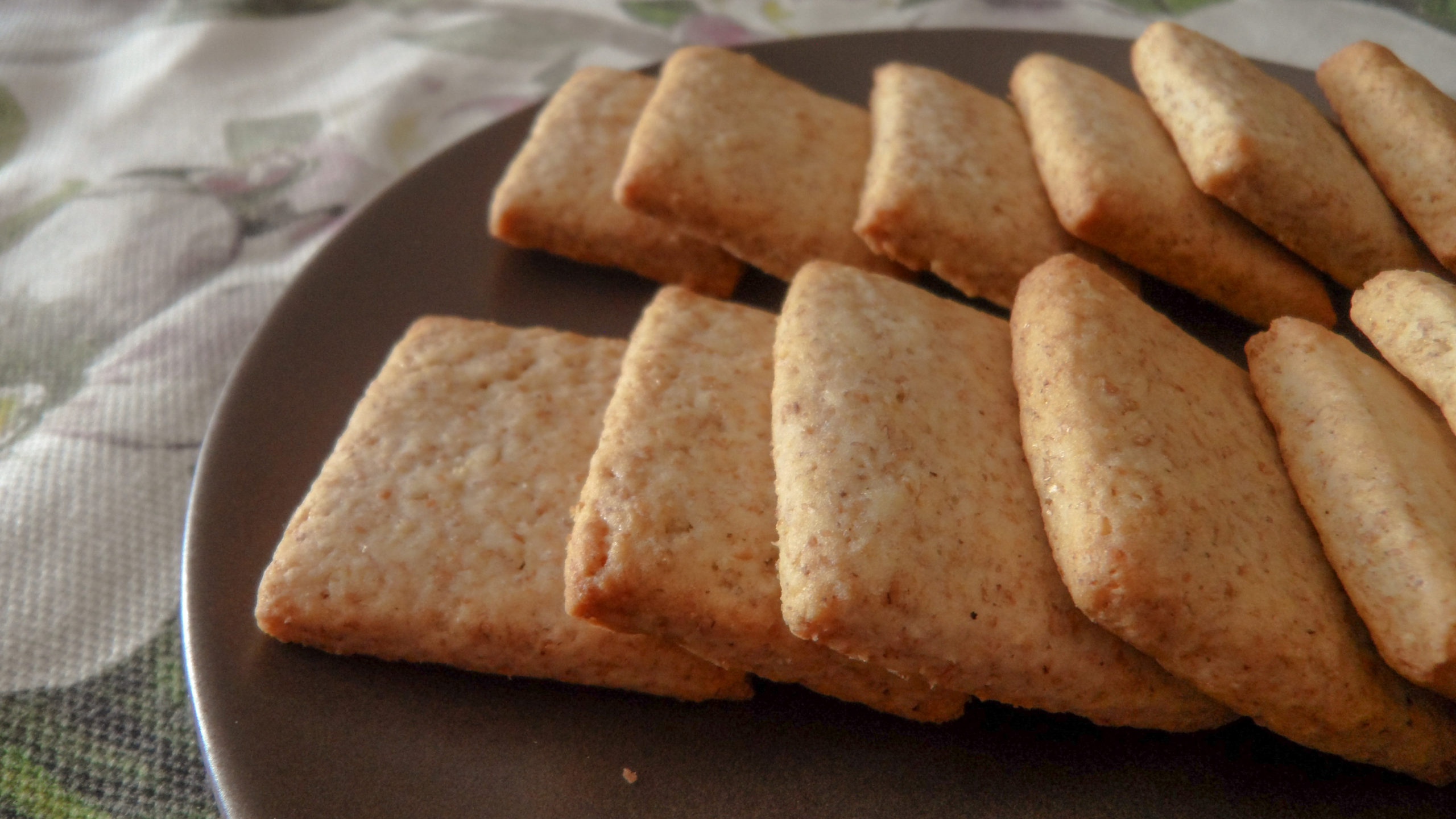 Integral shortbread cookies without eggs