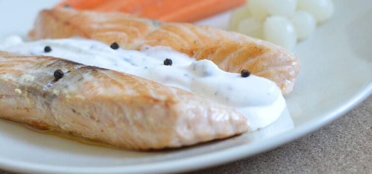 Sour cream salmon