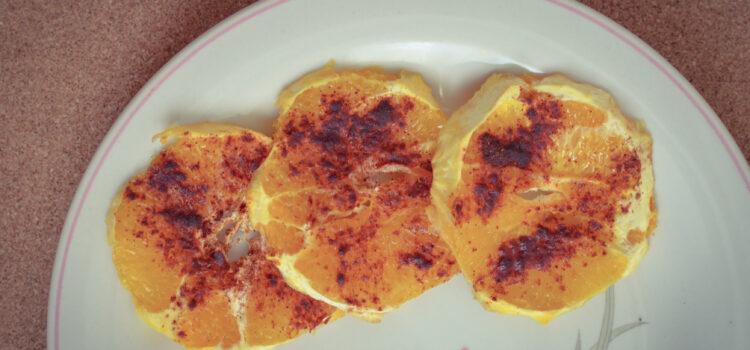 Oven baked honey and cinnamon orange