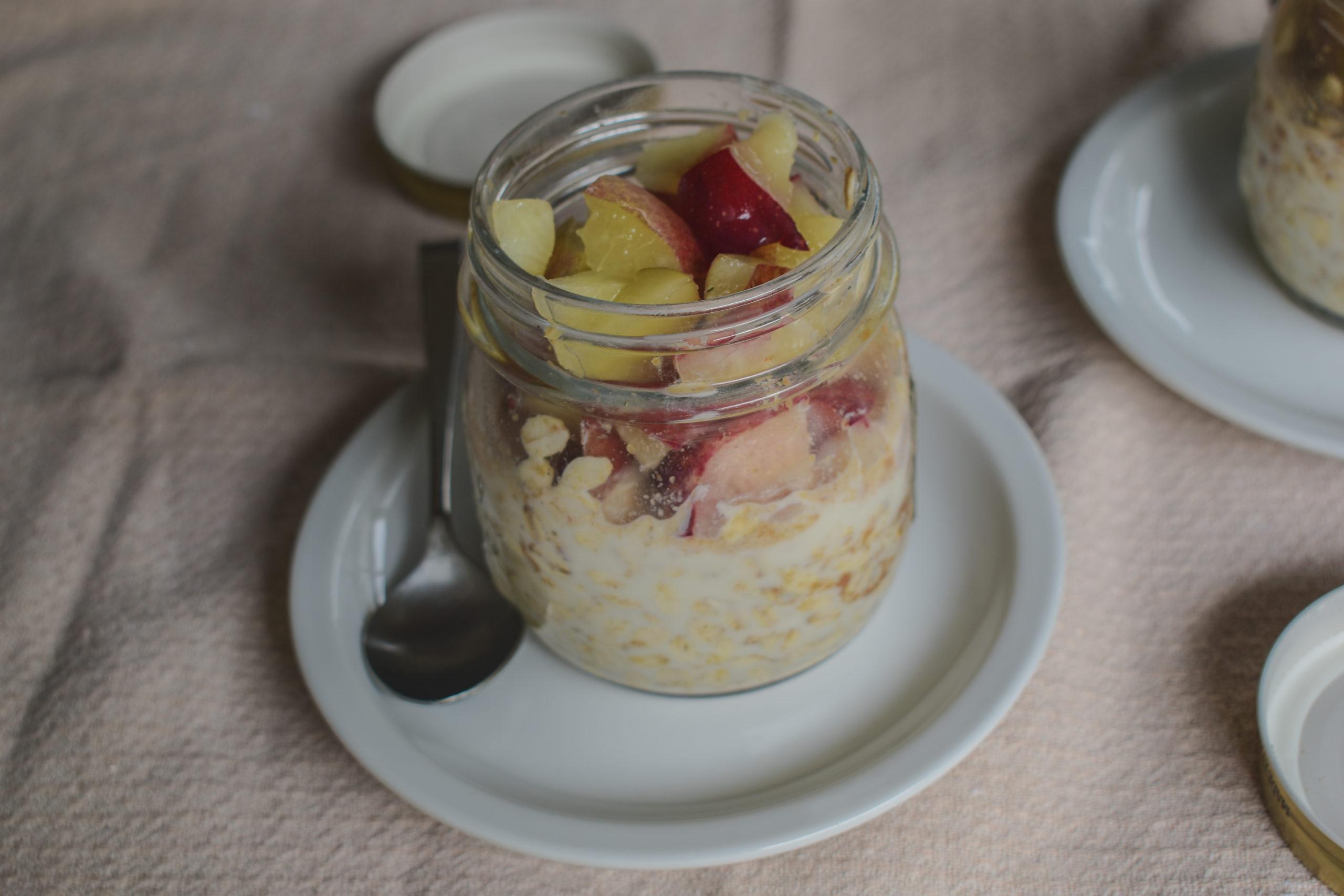 Overnight oatmeal in a jar
